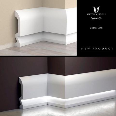 SKIRTING BOARDS FOR LED STRIPS